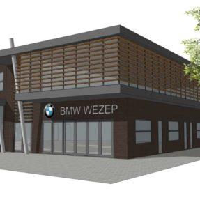 Nieuwbouw BMW showroom Wezep