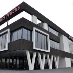 Nieuwbouw kantoorpand Geurts Trucks Andelst